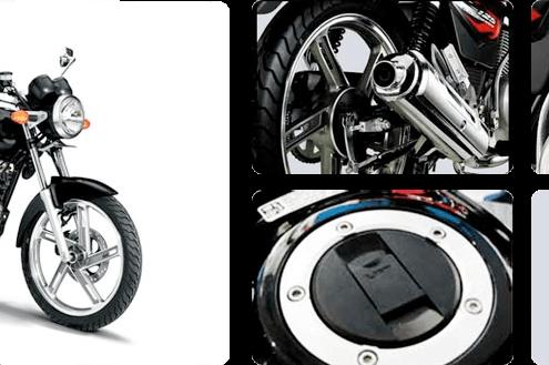 Motos en Panama Suzuki EN125 negra
